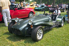 touring car(0.0), automobile(1.0), lotus seven(1.0), vehicle(1.0), caterham 7 csr(1.0), antique car(1.0), classic car(1.0), vintage car(1.0), land vehicle(1.0), sports car(1.0),
