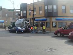 Bad Traffic Control -Northeast Corner of  Milwaukee & California