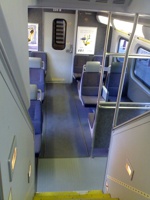 Looking Down the Stairs from the Top Level of the West Coast Express