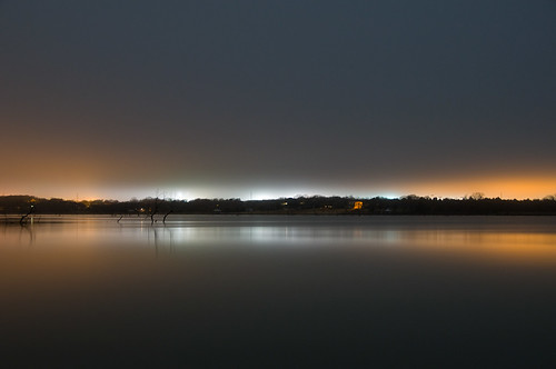 lake fog night ray hubbard