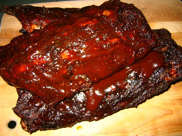 Hickory Smoked BBQ Pork Baby Back Ribs With Jack Daniels Sauce ...