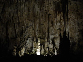 Stalactites, stalagmites, and drapes