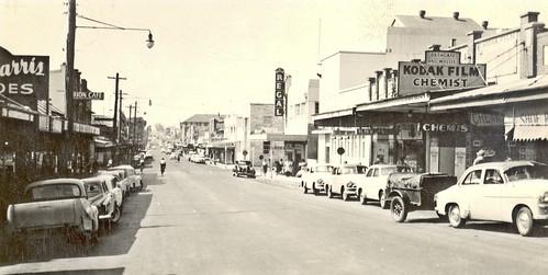 Mann Street Gosford, mid-late 1950s
