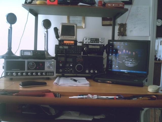D-104 Mic, Radio Shack DX-300 Receiver, Yaesu FT-1900 2-Meter Ham Radio, ...