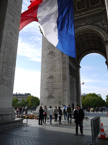 Arc de Triomphe with French Flag