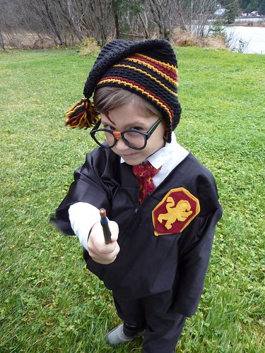 Harry Potter Crochet Hat and Knit Tie