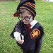 Harry Potter Crochet Hat and Knit Tie by plainsight