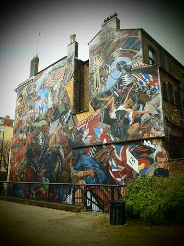 Jost a mon st george in the east for Battle of cable street mural