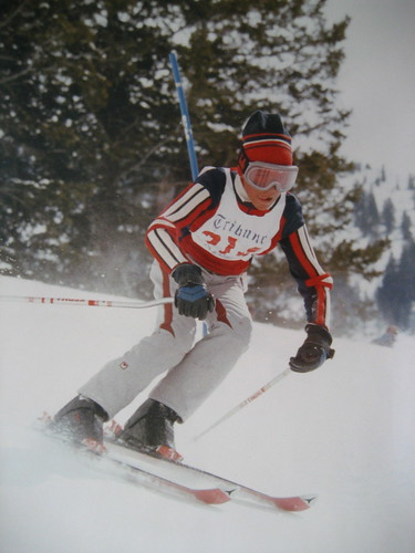 Me racing at Snowbird in 1985