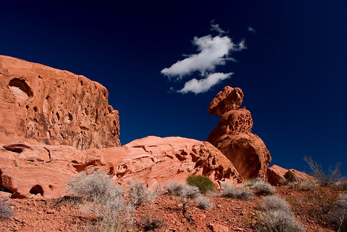 Balanced Rock and Clouds