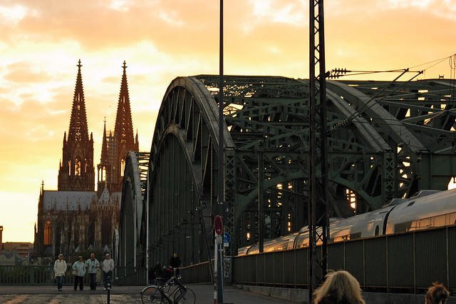 Cathedrale of Cologne in the evening sun