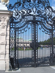 Belvedere museum entrance gate