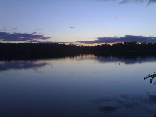 sunset lake nature salmela kangasniemi