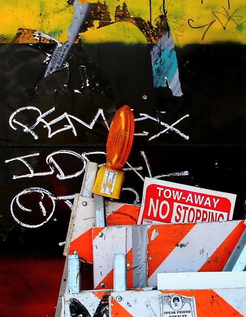 San Francisco temporary no parking sign