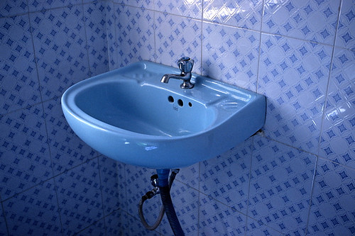Blue bathroom: sink Flickr - Photo Sharing!