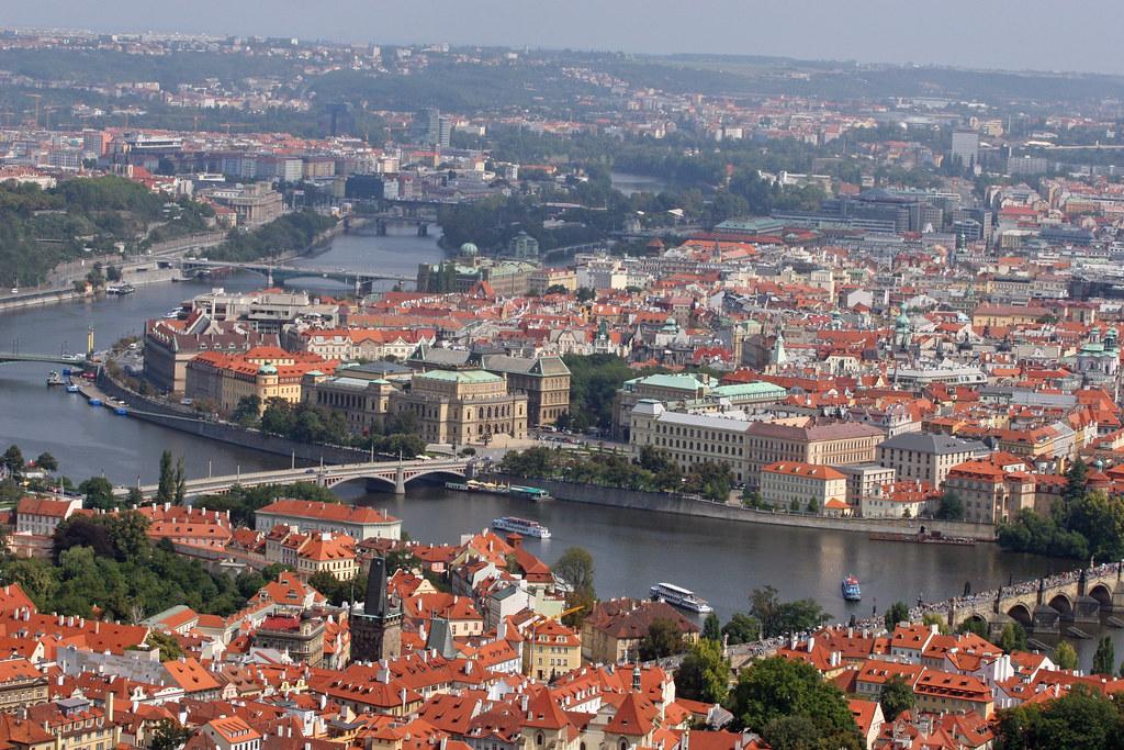 Prague from Petrin Hill