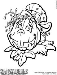 Halloween Pumpkin Jack-o'-lantern Coloring Page
