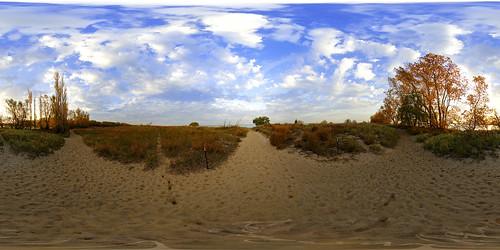 morning panorama sunrise harbor sand nikon pano dunes sony panoramic fisheye 105 alpha hdr fairport nex equirectangular 360vr nex5