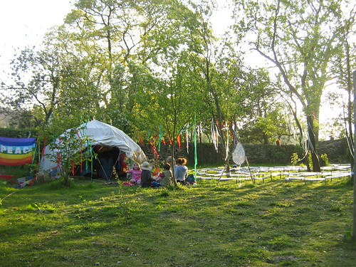 Peace Dome and labyrinth at Ashley Hay Festival