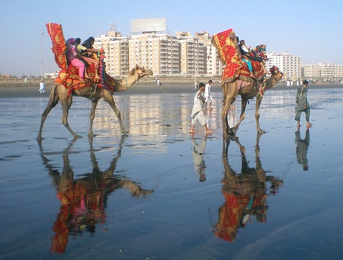 pakistan sea reflection view floor dual karachi sindh anawesomeshot iqbalkhatri