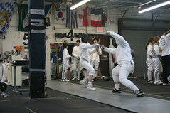 weapon combat sports(1.0), sport venue(1.0), contact sport(1.0), sports(1.0), combat sport(1.0), fencing(1.0), foil(1.0),