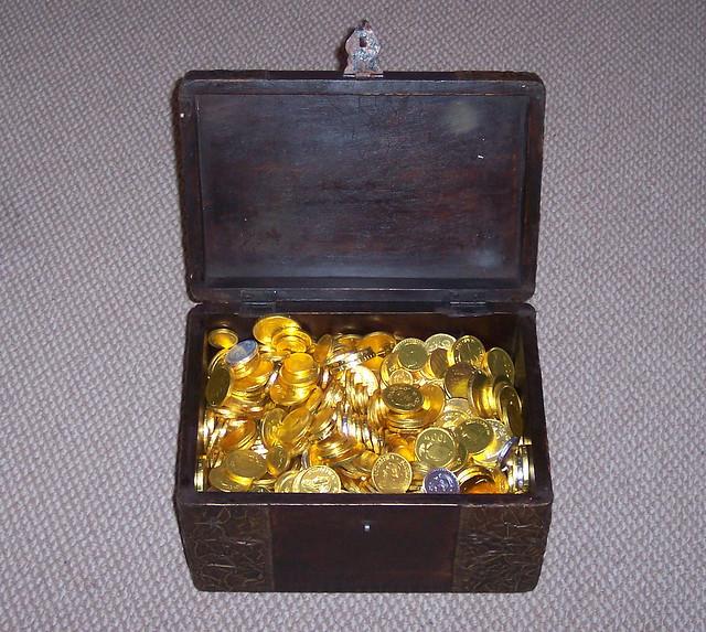 Chocolate Treasure Box Cake