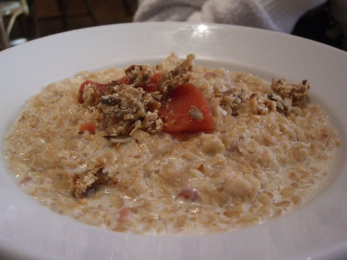 Oatmeal Porridge with Poached Quince - Richmond Hill Cafe and Larder