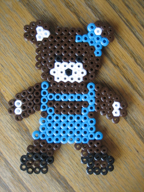Perler Bead Bear Girl Perler Bead Ideas Amp Supplies