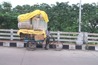 Overloaded bike in india