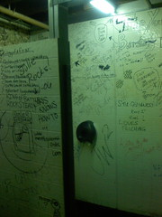 The bathroom in Chuck's bar