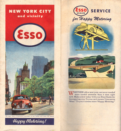 1946 ESSO Road Map