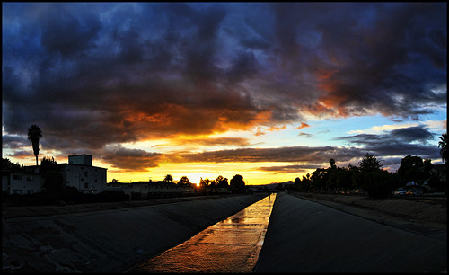 sunset sky clouds losangelesriver canogapark microsoftice canogaparknothiddenhills