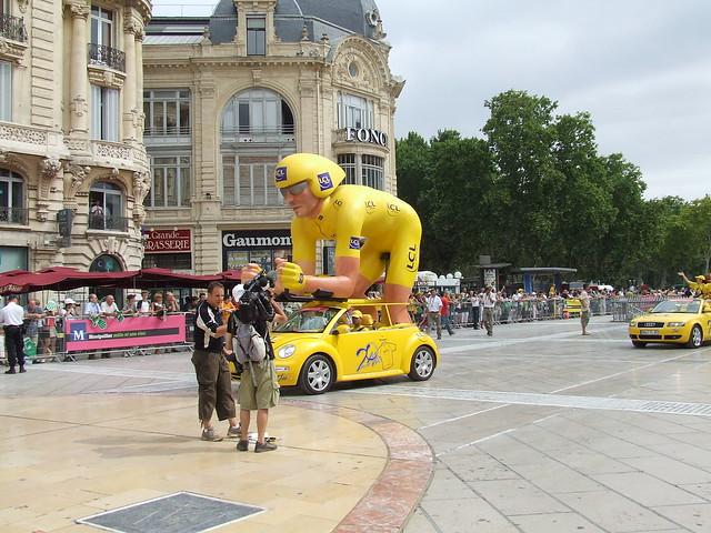 Float in the Tour de France