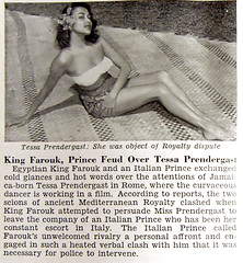 King Farouk Feud Over Tessa Prendergast - Jet Magazine, October 29, 1953