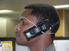 A Ghetto hands-free cell phone solution