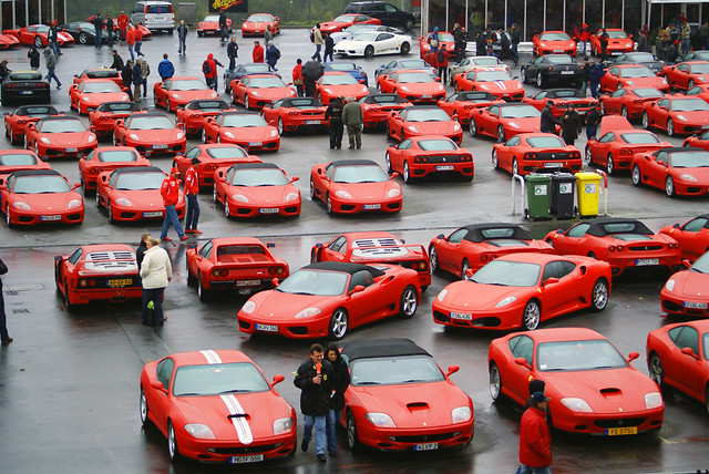 A lot of Ferraris!