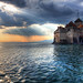 The Sun Sets on Château de Chillon by Pear Biter