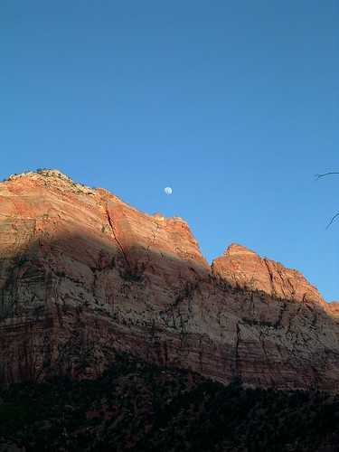 Moonrise, Cable Mountain, Zion NP