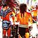 Aztec Drummers por Carl Campbell