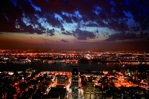New York City by Night Skyline