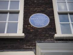 Photo of Charles Bridgeman blue plaque