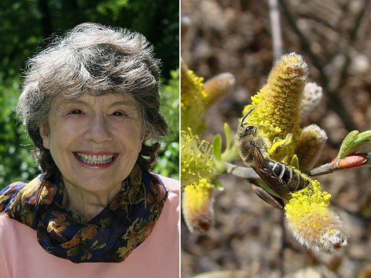 Left: Author and Children's Poet Laureate Mary Ann Hoberman; right: Greenbelt Native Plant Center (Courtesy of John Ascher)