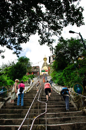 Ascending Swayambhunath