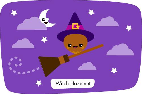 Kawaii Cute Cartoon Witch HazelnutCute Cartoon Witch