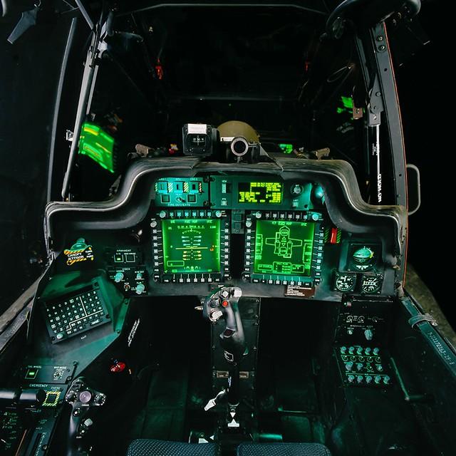 Apache pilots cockpit