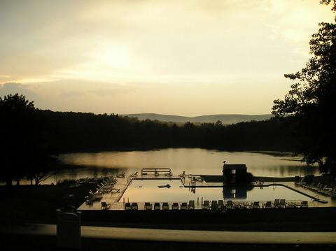 sunset camp usa lake pool pennsylvania poconos