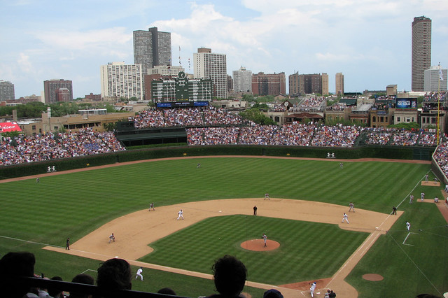 Wrigley from the Upper Deck from Flickr via Wylio