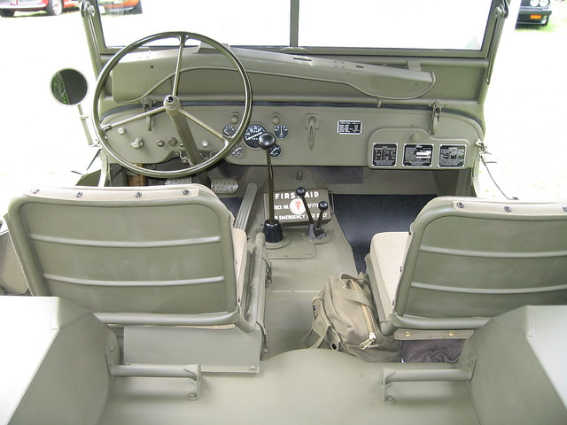 Huntington Beach Jeep >> 1943 Ford GPW military Jeep interior | The interior of a 194… | Flickr - Photo Sharing!