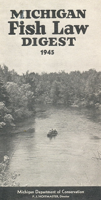 1945 michigan fishing license guide flickr photo sharing for Fishing license michigan