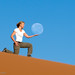 Holding the moon on the red dunes of Namibia... by Michael Poliza